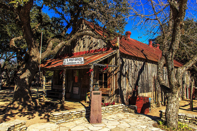 Luckenbach, TX, made famous by Waylon Jennings, is a great stop on Gruene-Fredericksburg-Bandera loop.