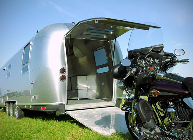 The Panamerica combines Airstream's classic good looks with the convenience of a garage on wheels.